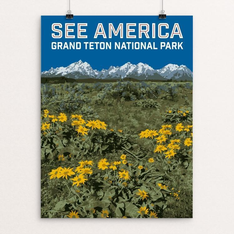 "Grand Teton National Park by Daniel Gross 12"" by 16"" Print / Unframed Print See America"
