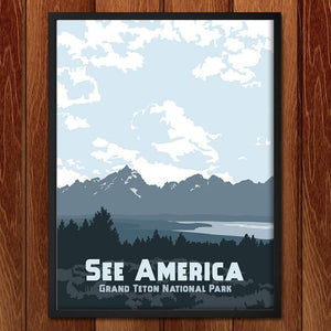 "Grand Teton National Park by Katie Story 12"" by 16"" Print / Framed Print See America"