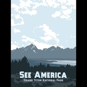"Grand Teton National Park by Katie Story 12"" by 16"" Print / Unframed Print See America"