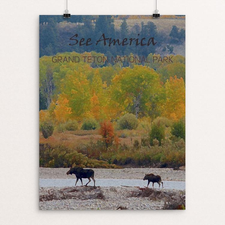 "Grand Teton National Park by Melody Gilmore 12"" by 16"" Print / Unframed Print See America"