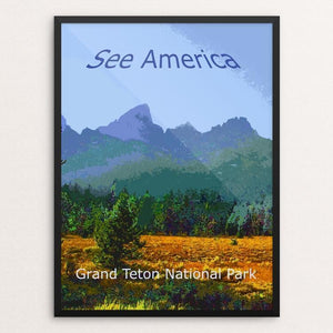 "Grand Teton National Park by Rodney Buxton 12"" by 16"" Print / Framed Print See America"