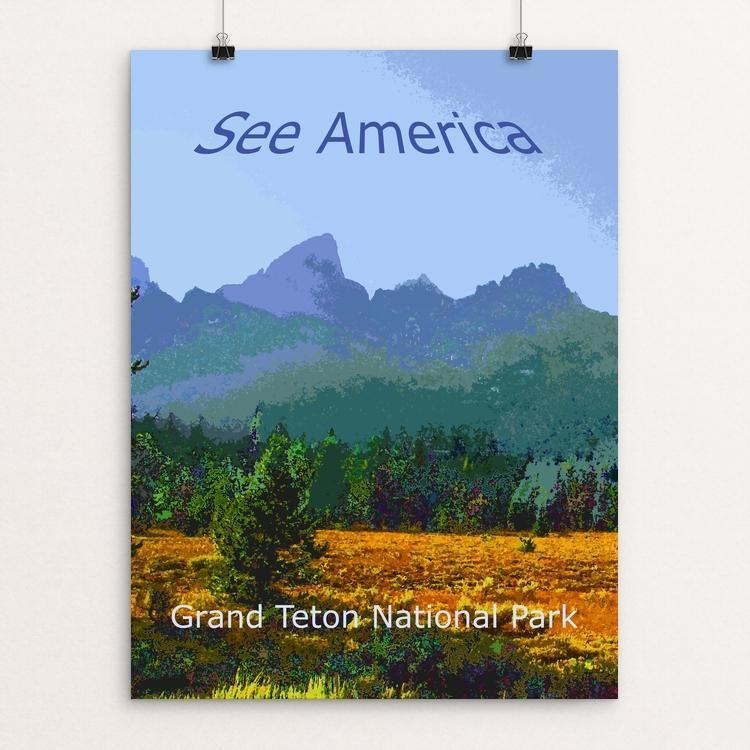 "Grand Teton National Park by Rodney Buxton 12"" by 16"" Print / Unframed Print See America"