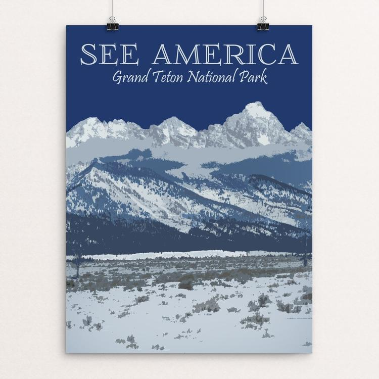 "Grand Teton National Park by Shannon Carnevale 12"" by 16"" Print / Unframed Print See America"