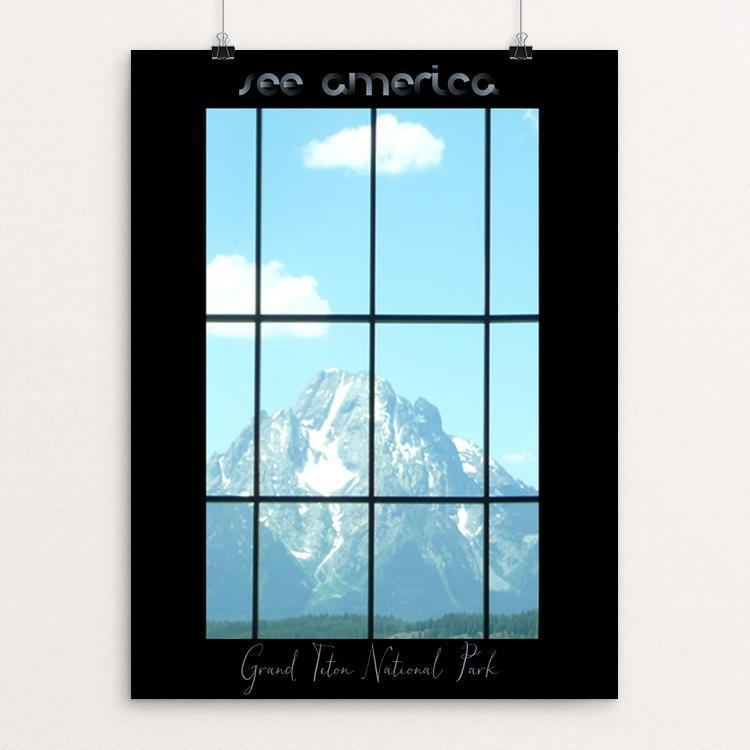 "Grand Teton National Park - Grand Teton Window by Bryan Bromstrup 12"" by 16"" Print / Unframed Print See America"