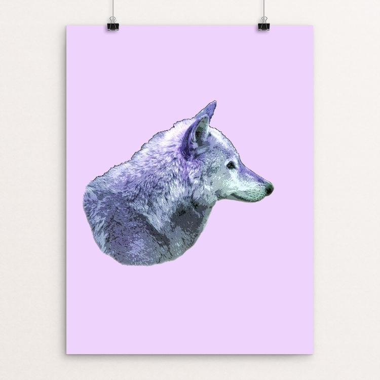 "Gray Wolf by Anthony Chiffolo 12"" by 16"" Print / Unframed Print Join the Pack"