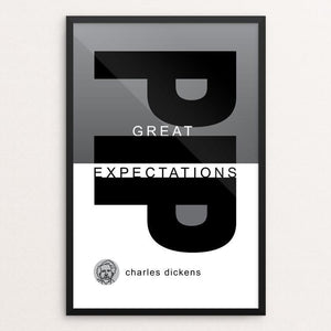 "Great Expectations by Robert Wallman 12"" by 18"" Print / Framed Print Recovering the Classics"