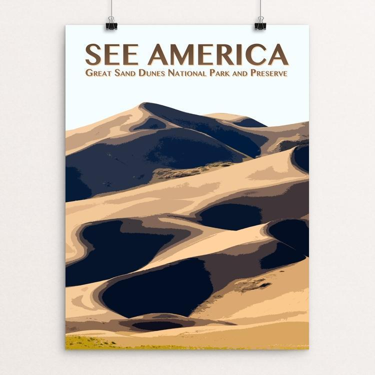 "Great Sand Dunes National Park and Preserve by Zack Frank 12"" by 16"" Print / Unframed Print See America"