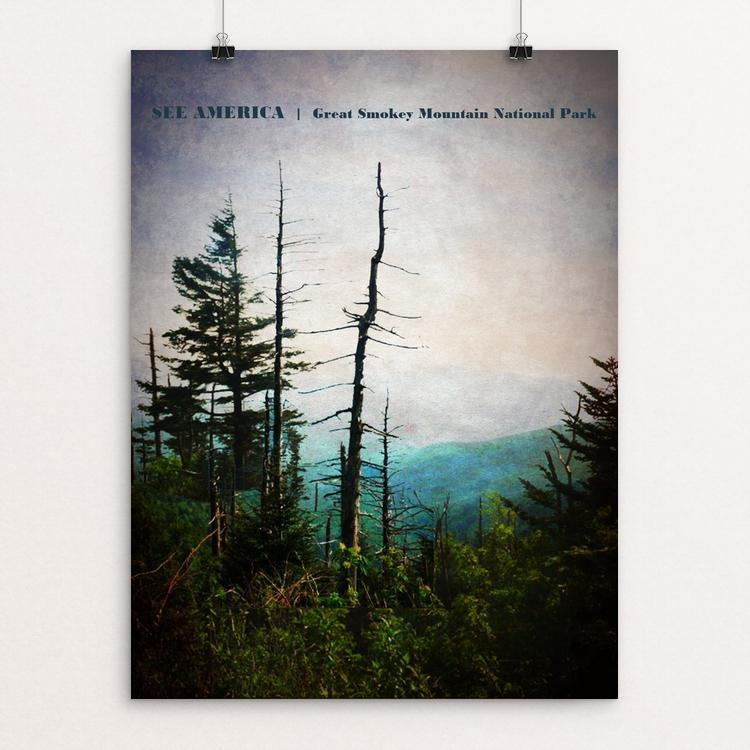 "Great Smokey Mountain National Park 1 by Bryan Bromstrup 18"" by 24"" Print / Unframed Print See America"