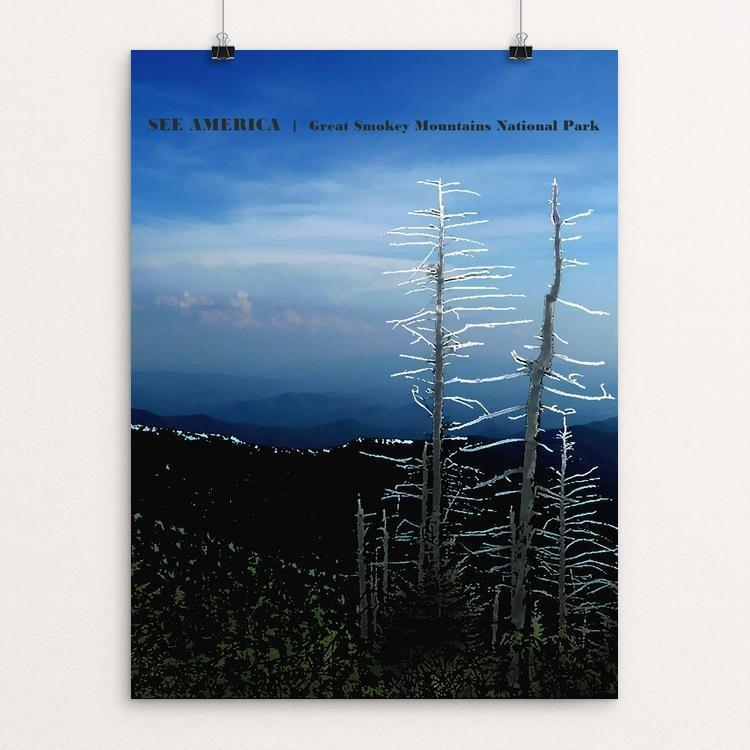 "Great Smokey Mountain National Park 2 by Bryan Bromstrup 18"" by 24"" Print / Unframed Print See America"