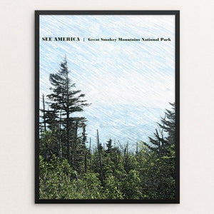 "Great Smokey Mountain National Park 3 by Bryan Bromstrup 18"" by 24"" Print / Framed Print See America"