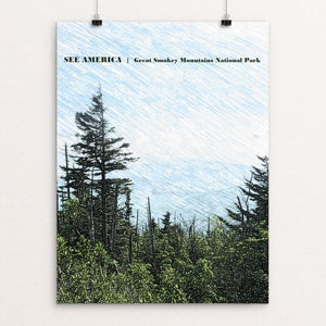 "Great Smokey Mountain National Park 3 by Bryan Bromstrup 18"" by 24"" Print / Unframed Print See America"