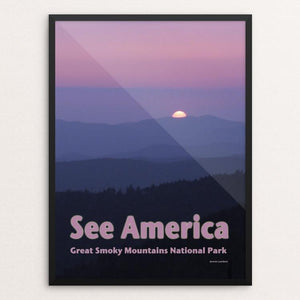 "Great Smoky Mountains National Park 2 by Jennie Lambert 12"" by 16"" Print / Framed Print See America"