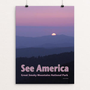 "Great Smoky Mountains National Park 2 by Jennie Lambert 12"" by 16"" Print / Unframed Print See America"