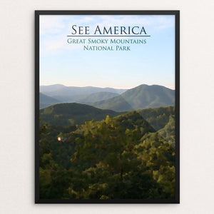 "Great Smoky Mountains National Park by D.G. Thompson 12"" by 16"" Print / Framed Print See America"