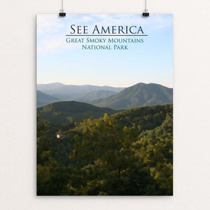 "Great Smoky Mountains National Park by D.G. Thompson 12"" by 16"" Print / Unframed Print See America"