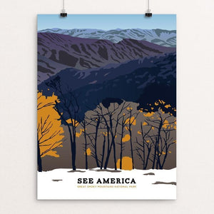 "Great Smoky Mountains National Park by Emily Kelley 12"" by 16"" Print / Unframed Print See America"