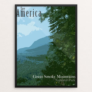 "Great Smoky Mountains National Park by Erika Pride 12"" by 16"" Print / Framed Print See America"