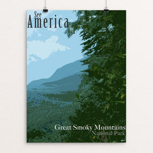 "Great Smoky Mountains National Park by Erika Pride 12"" by 16"" Print / Unframed Print See America"