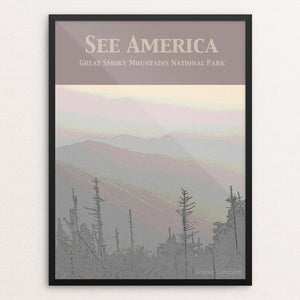 "Great Smoky Mountains National Park by Jennie Lambert 12"" by 16"" Print / Framed Print See America"