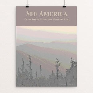 "Great Smoky Mountains National Park by Jennie Lambert 12"" by 16"" Print / Unframed Print See America"
