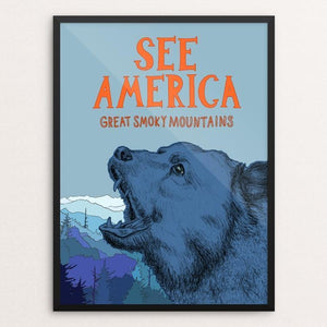 "Great Smoky Mountains National Park by Katelyn Gilland 12"" by 16"" Print / Framed Print See America"