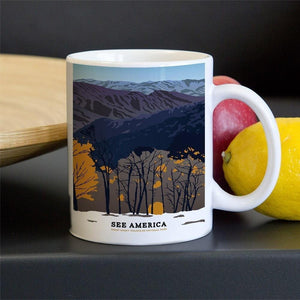 Great Smoky Mountains National Park Mug by Emily Kelley 11oz Mug See America