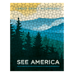 Great Smoky Mountains National Park Puzzle by Jon Cain 10x14 inch Puzzle See America