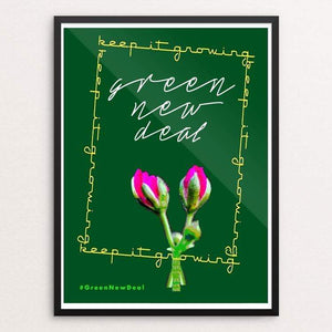 "Green by Bob Rubin 18"" by 24"" Print / Framed Print Green New Deal"