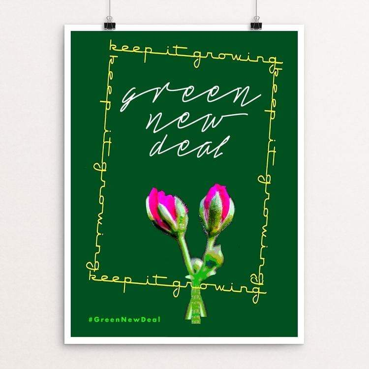 "Green by Bob Rubin 18"" by 24"" Print / Unframed Print Green New Deal"