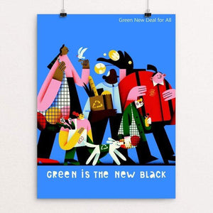 "Green is the New Black by Tania Yakunova 18"" by 24"" Print / Unframed Print Green New Deal"