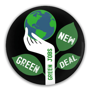 Green Jobs Button by Brooke Fischer 1 Pack Buttons Green New Deal