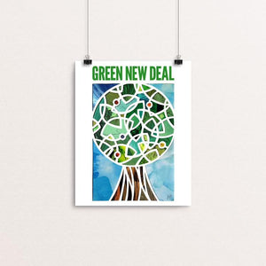 "Green Lantern, Green New Deal by Isaac Brynjegard-Bialik 8"" by 10"" Print / Unframed Print Green New Deal"