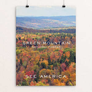 "Green Mountain National Forest by Nico Carbellano 12"" by 16"" Print / Unframed Print See America"