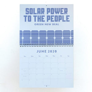Green New Deal 2020 Wall Calendar Calendar Vote!