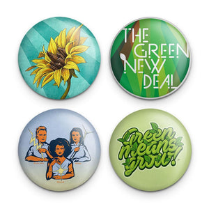 Green New Deal Button Pack 1 4 Pack Buttons Green New Deal