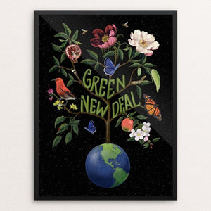 "Green New Deal by Brooke Fischer 12"" by 16"" Print / Framed Print Green New Deal"