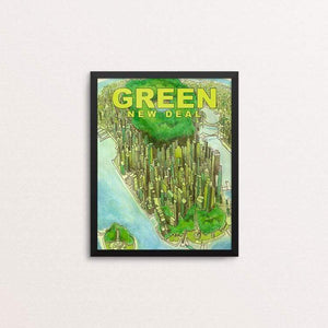 "Green New Deal by Chris Arnold 8"" by 10"" Print / Framed Print Green New Deal"