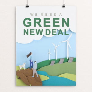 "Green New Deal by Lorraine Nam 12"" by 16"" Print / Unframed Print Green New Deal"