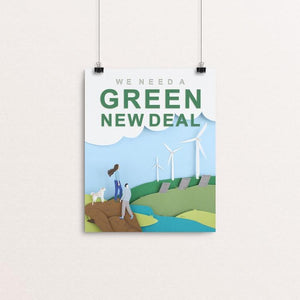 "Green New Deal by Lorraine Nam 8"" by 10"" Print / Unframed Print Green New Deal"