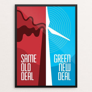 "Green New Deal by Luis Prado 12"" by 16"" Print / Framed Print Green New Deal"