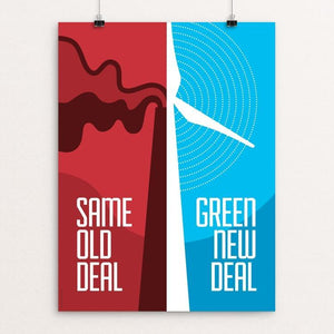 "Green New Deal by Luis Prado 12"" by 16"" Print / Unframed Print Green New Deal"