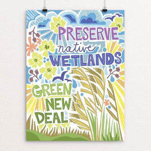 "Green New Deal by Shayna Roosevelt 18"" by 24"" Print / Unframed Print Green New Deal"