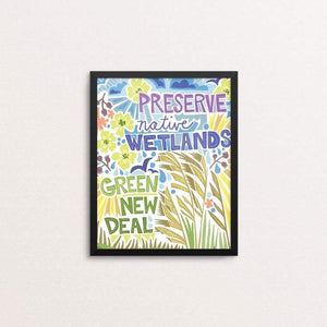 "Green New Deal by Shayna Roosevelt 8"" by 10"" Print / Framed Print Green New Deal"