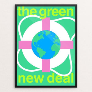 "Green New Deal by Steve Wammack 18"" by 24"" Print / Framed Print Green New Deal"