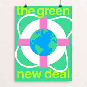 "Green New Deal by Steve Wammack 18"" by 24"" Print / Unframed Print Green New Deal"