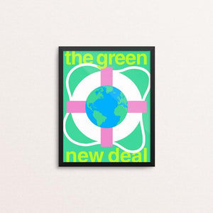 "Green New Deal by Steve Wammack 8"" by 10"" Print / Framed Print Green New Deal"
