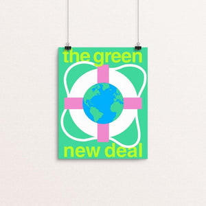 "Green New Deal by Steve Wammack 8"" by 10"" Print / Unframed Print Green New Deal"