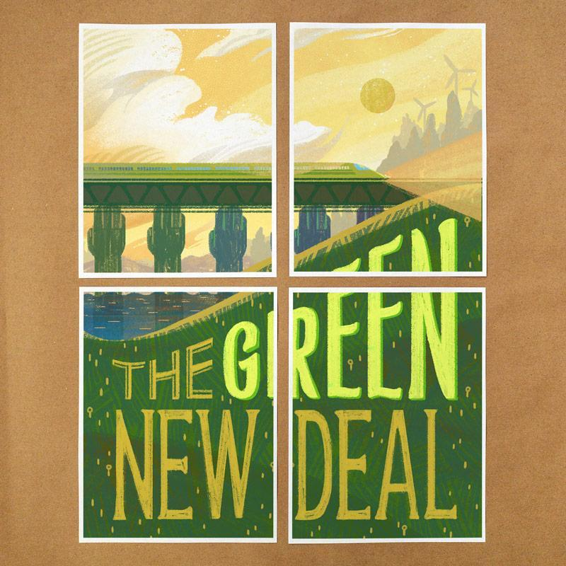 Green New Deal Download & Print-at-Home Protest Posters 3 PDF Document Print-at-Home Protest Posters Green New Deal