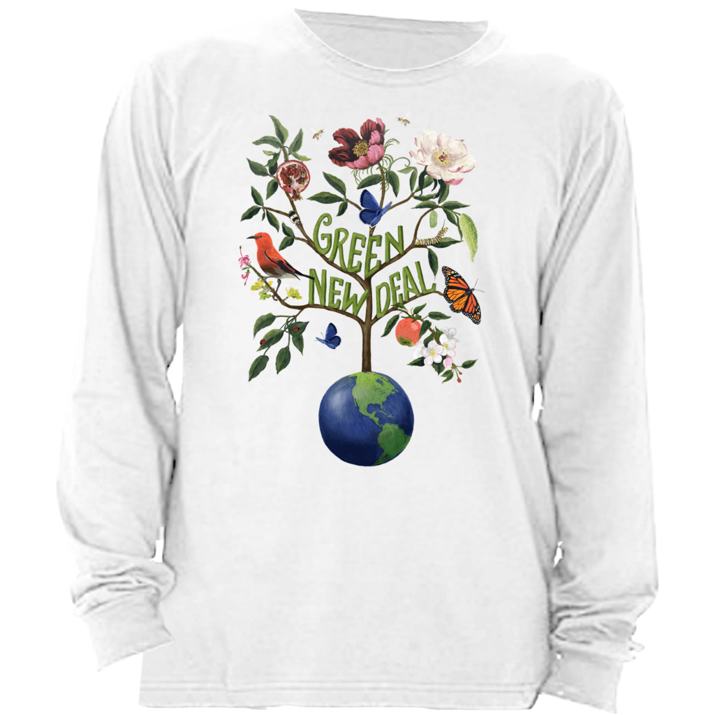 Green New Deal Long Sleeve Shirt by Brooke Fischer Athletic Heather / Small (S) T-Shirt Green New Deal