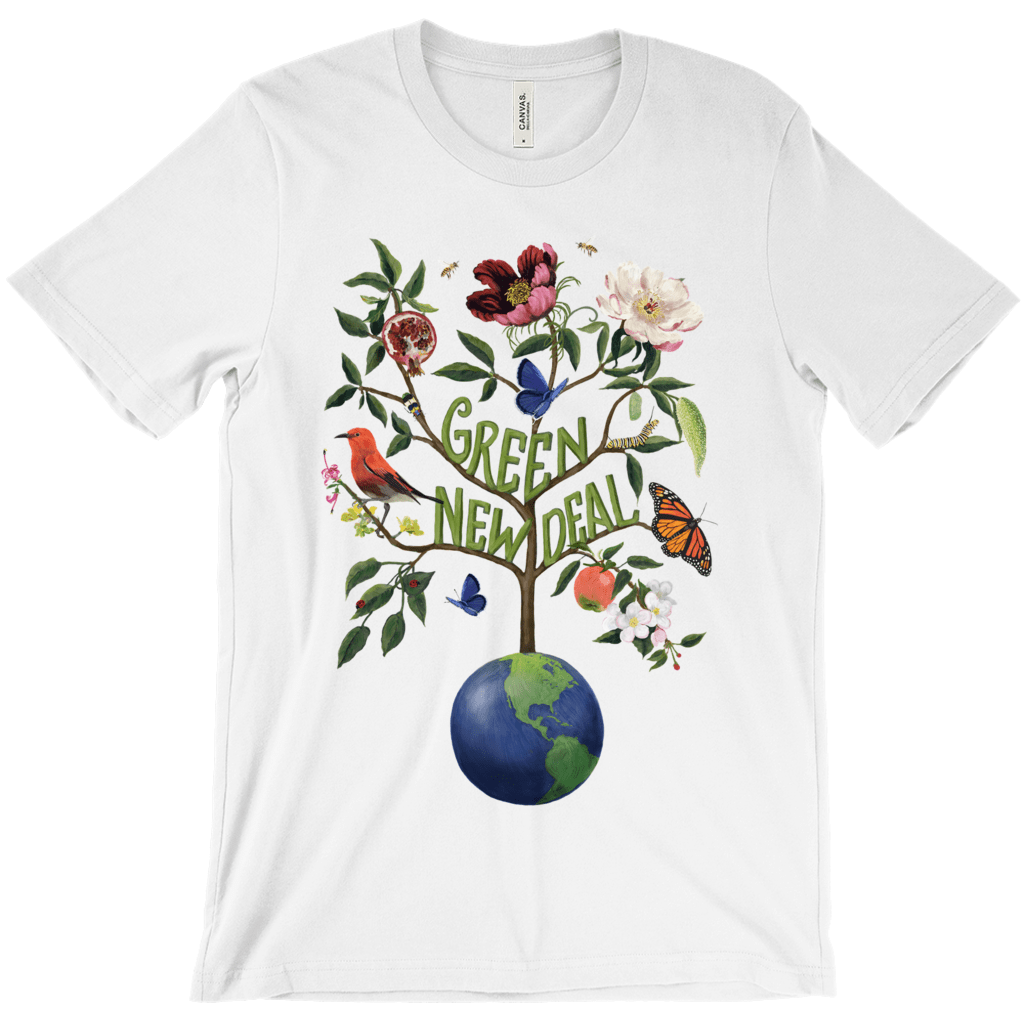 Green New Deal Men's T-Shirt by Brooke Fischer